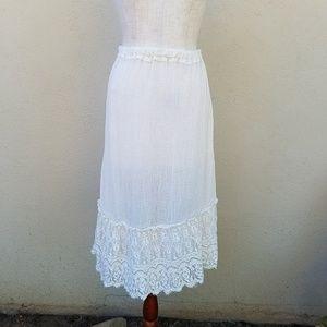 Vintage gauze skirt.